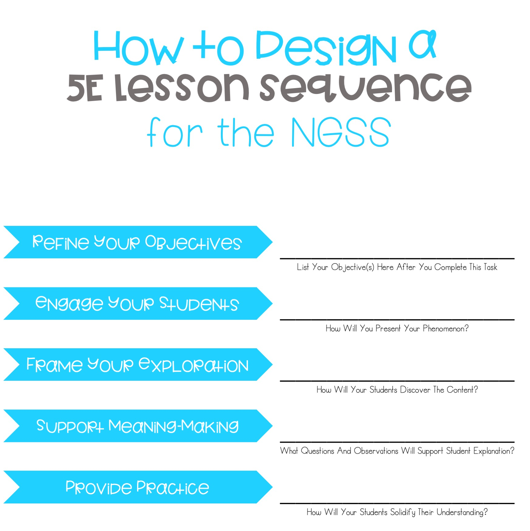 how to design a 5e lesson sequence